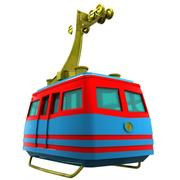 Cartoon Cable Car 3d model