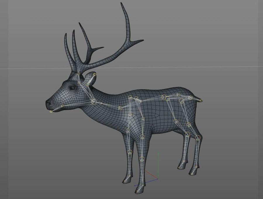 Smbar Geyik Rusa unicolor Arma royalty-free 3d model - Preview no. 15
