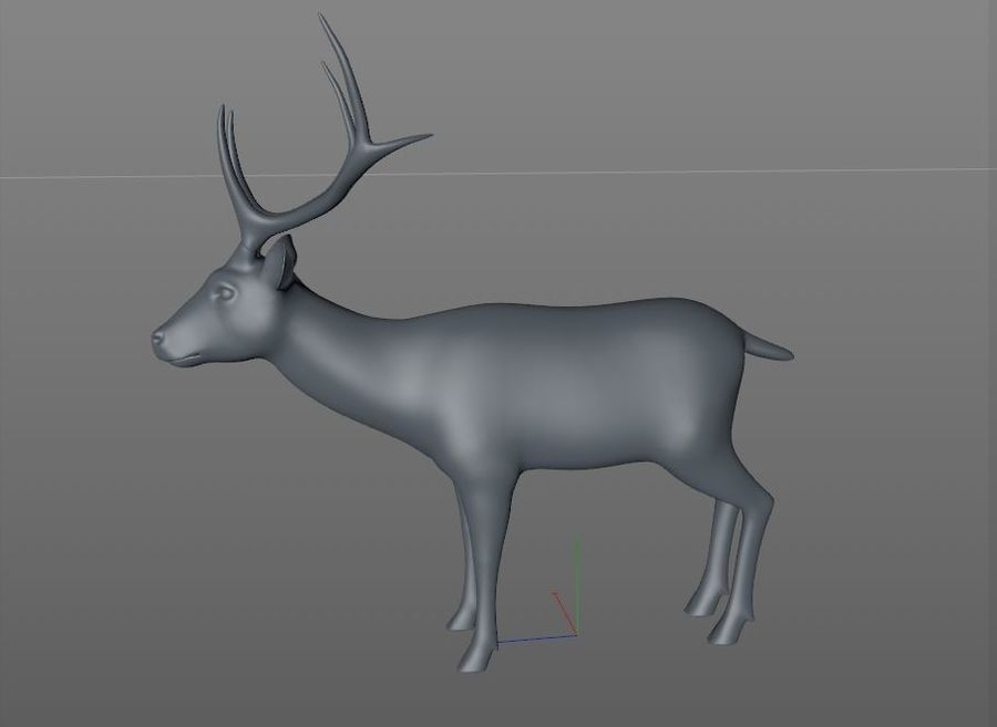 Smbar Geyik Rusa unicolor Arma royalty-free 3d model - Preview no. 16