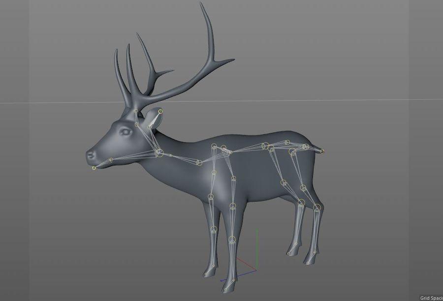 Smbar Geyik Rusa unicolor Arma royalty-free 3d model - Preview no. 14