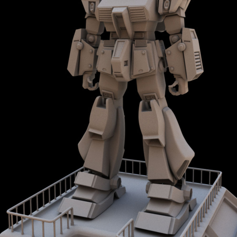 Robot Gundam royalty-free 3d model - Preview no. 2