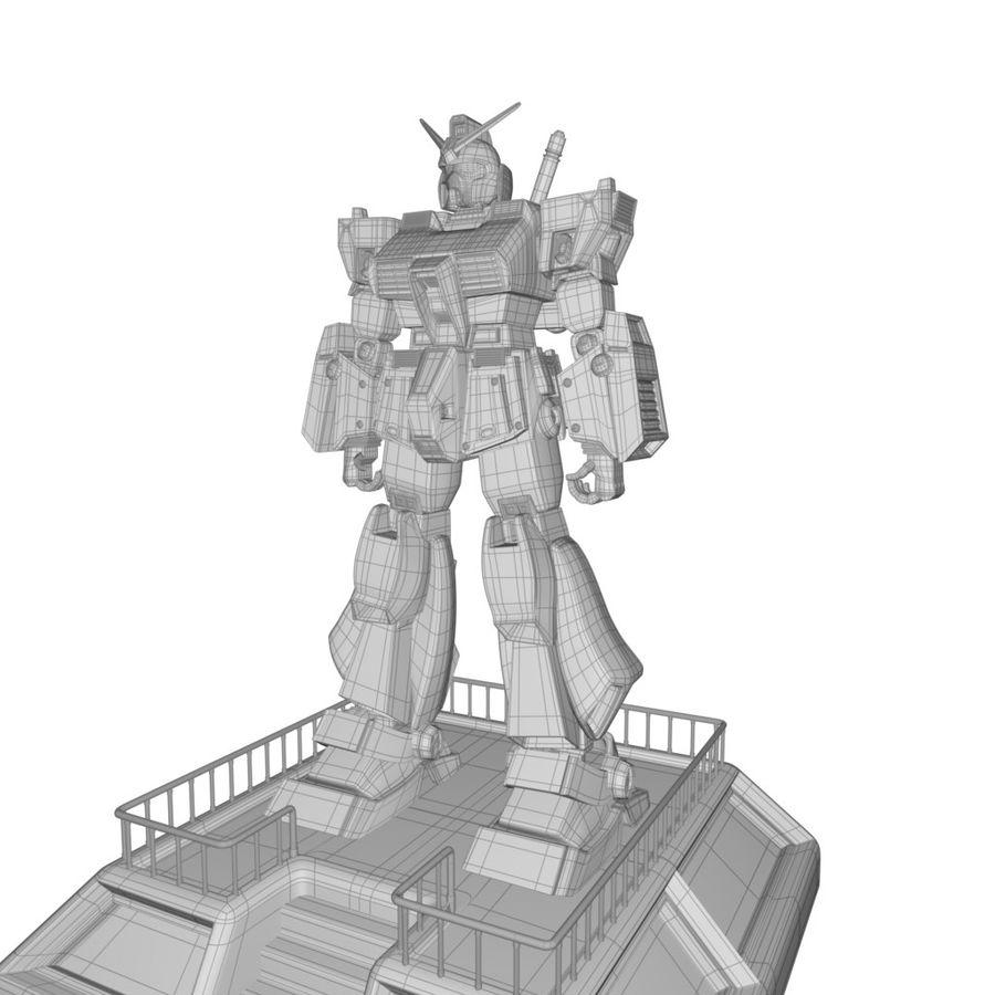 Robot Gundam royalty-free 3d model - Preview no. 4
