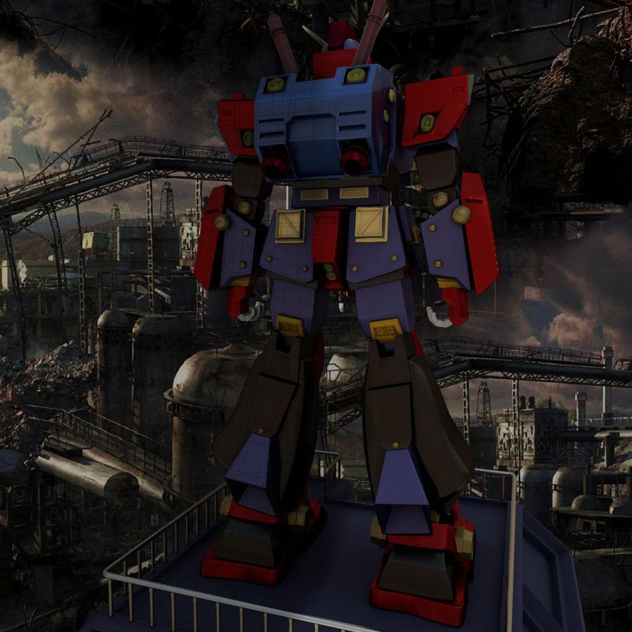 Robot Gundam royalty-free 3d model - Preview no. 3
