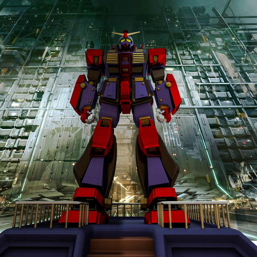 Robot Gundam royalty-free 3d model - Preview no. 1