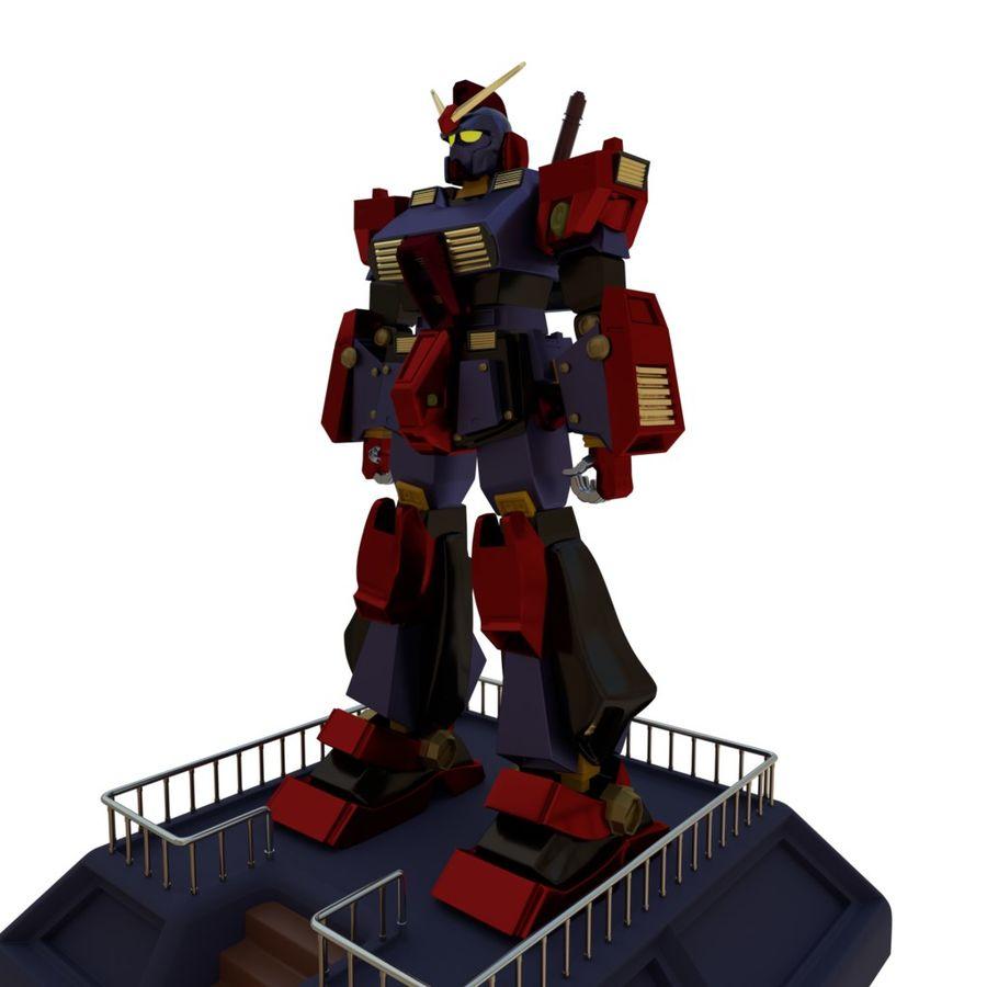 Robot Gundam royalty-free 3d model - Preview no. 6