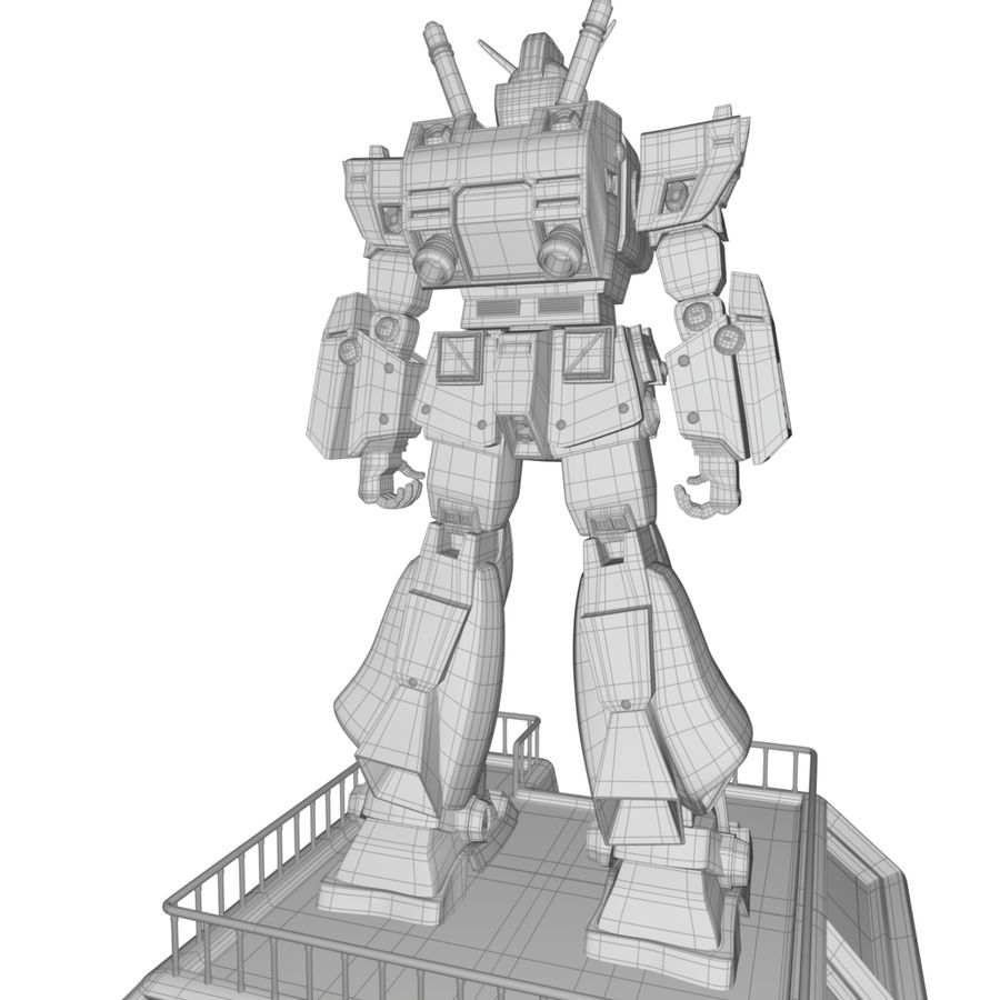 Robot Gundam royalty-free 3d model - Preview no. 5