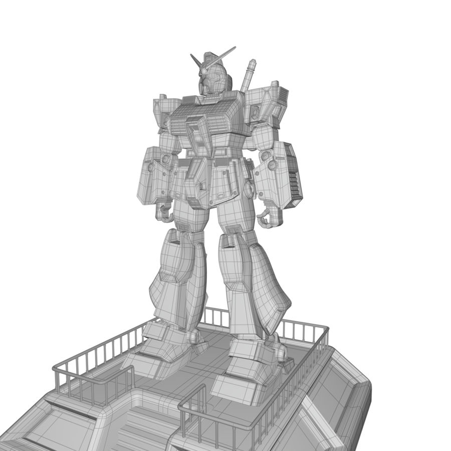 Robot Gundam royalty-free 3d model - Preview no. 4