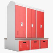 Шкафчики для хранения личных вещей 03 3d model