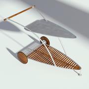 Wózek do jedzenia w ogrodzie 3d model