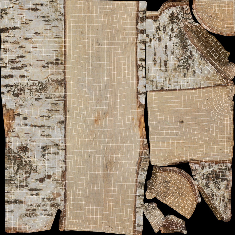 Log Birch Cracked 3d Model 15 Blend Obj Free3d