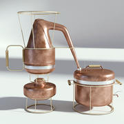 Destilador de Cobre Vintage modelo 3d