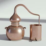 Copper Distiller Vintage 3d model