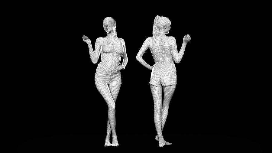 ヌードトップ55のセクシーな女性 royalty-free 3d model - Preview no. 8