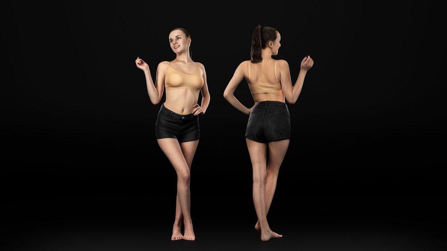 ヌードトップ55のセクシーな女性 royalty-free 3d model - Preview no. 4