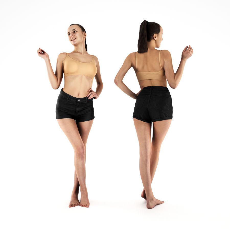 ヌードトップ55のセクシーな女性 royalty-free 3d model - Preview no. 1