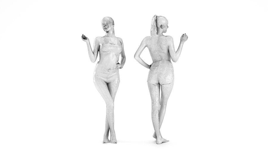 ヌードトップ55のセクシーな女性 royalty-free 3d model - Preview no. 6
