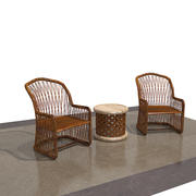 cane chair 3d model