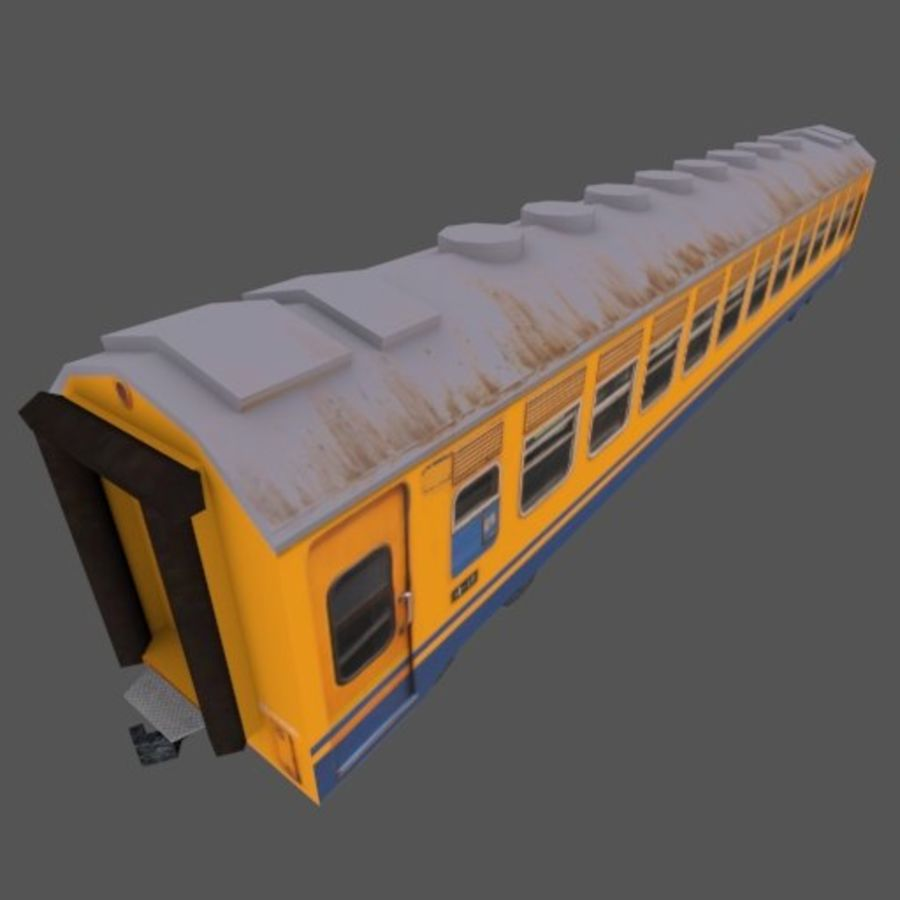 Economy Class tågvagn royalty-free 3d model - Preview no. 3