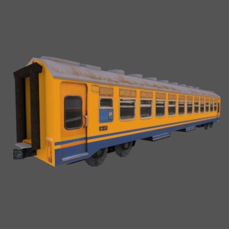 Economy Class tågvagn royalty-free 3d model - Preview no. 1