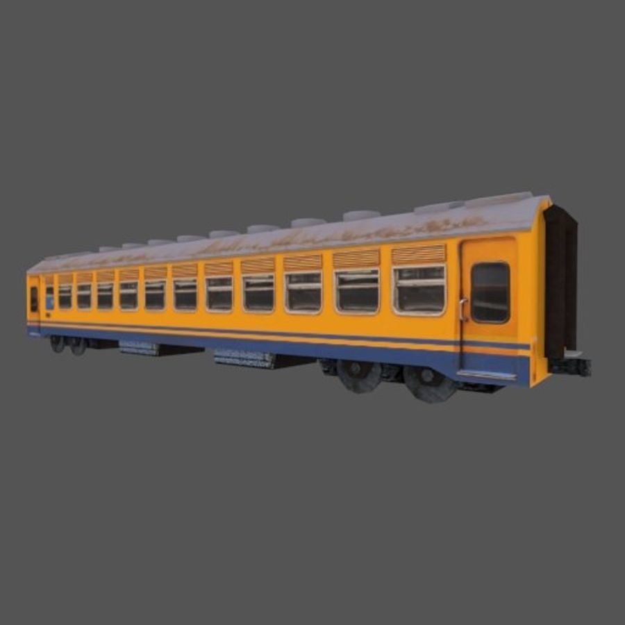 Economy Class tågvagn royalty-free 3d model - Preview no. 2