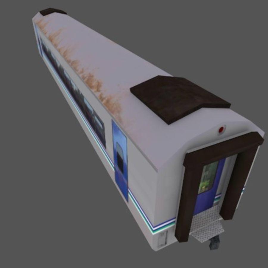 Tågvagn med låg poly Executive Class royalty-free 3d model - Preview no. 3