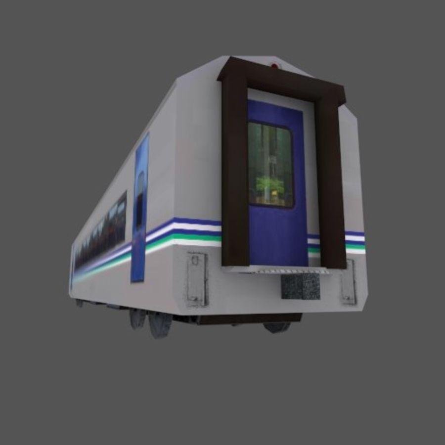 Tågvagn med låg poly Executive Class royalty-free 3d model - Preview no. 4