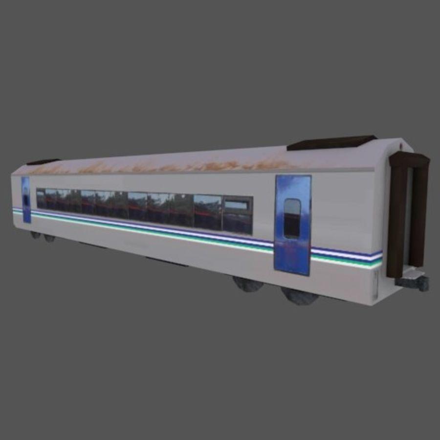 Tågvagn med låg poly Executive Class royalty-free 3d model - Preview no. 2