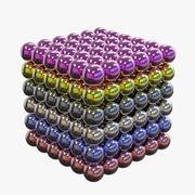 球形磁铁立方体 3d model