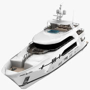 Ocean Alexander Yacht Low Poly 3d model