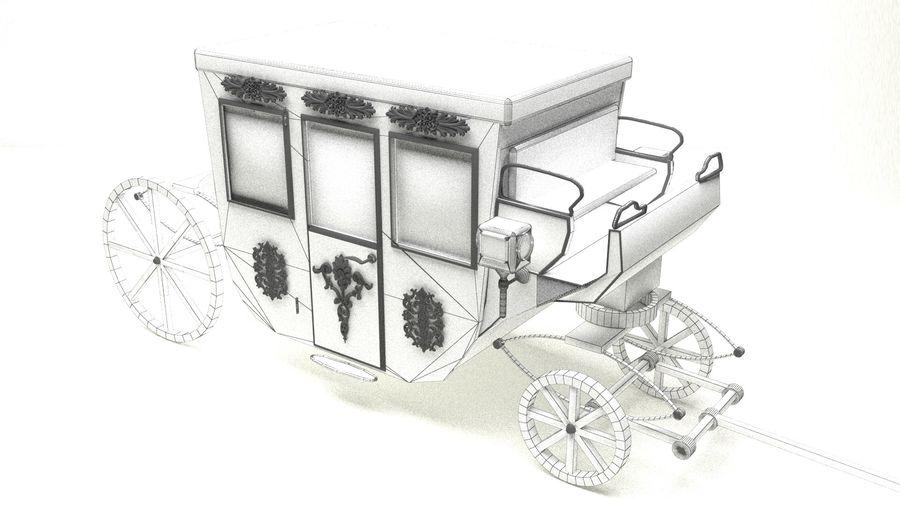 VIP hästvagn royalty-free 3d model - Preview no. 2
