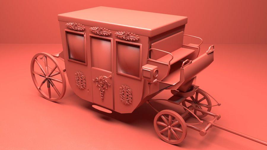 VIP hästvagn royalty-free 3d model - Preview no. 4