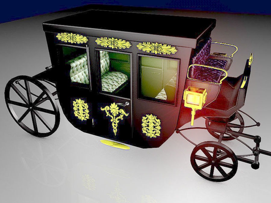 VIP hästvagn royalty-free 3d model - Preview no. 1