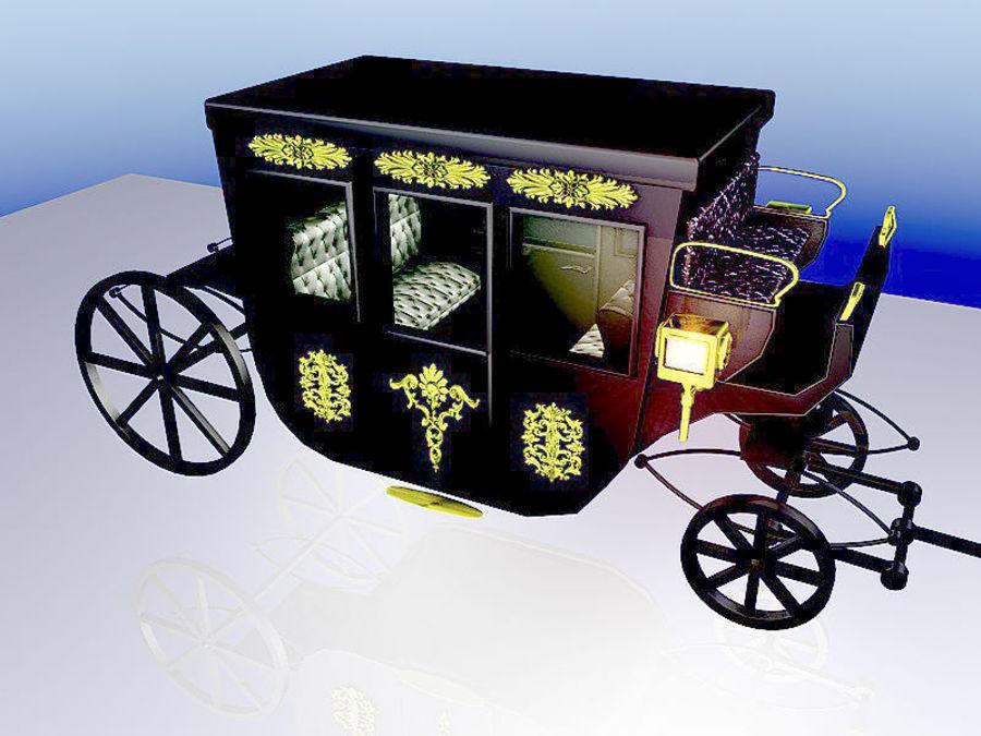 VIP hästvagn royalty-free 3d model - Preview no. 3