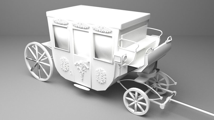 VIP hästvagn royalty-free 3d model - Preview no. 5