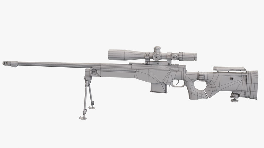 L115a3 Low poly sniper rifle royalty-free 3d model - Preview no. 11