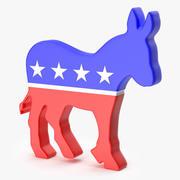 Logo du parti démocratique 3d model