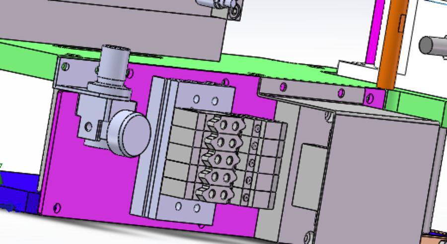 Pneumatyczny obrotowy mechanizm podający (łożysko) royalty-free 3d model - Preview no. 4