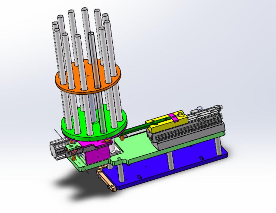 Pneumatyczny obrotowy mechanizm podający (łożysko) royalty-free 3d model - Preview no. 8