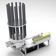 Pneumatic division rotary feeding mechanism (bearing) 3d model