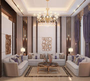 living room luxury 3d model