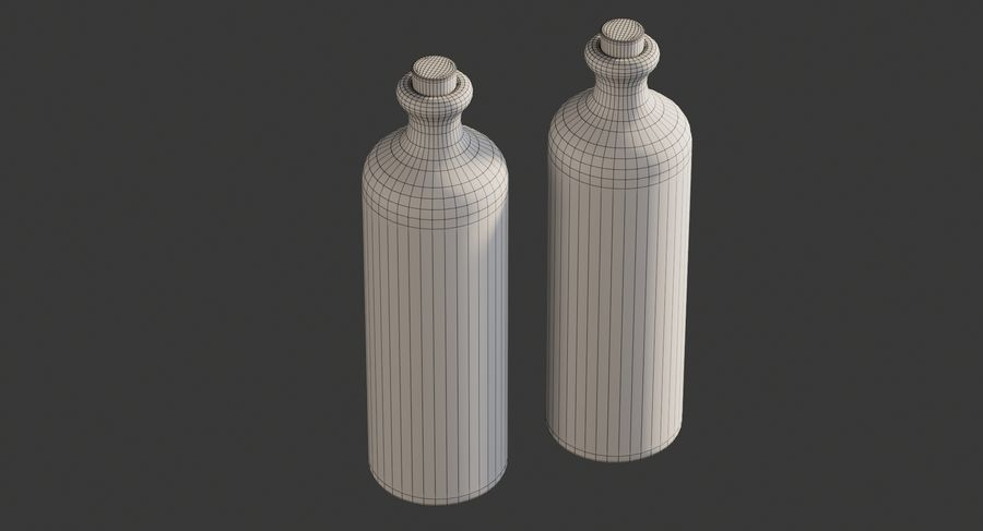 Botellas de aceite cerámico royalty-free modelo 3d - Preview no. 10