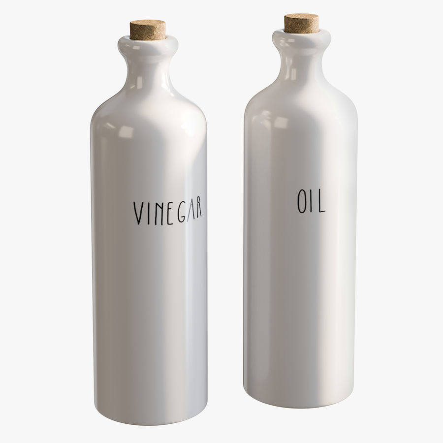 Ceramic Oil Bottles royalty-free 3d model - Preview no. 1