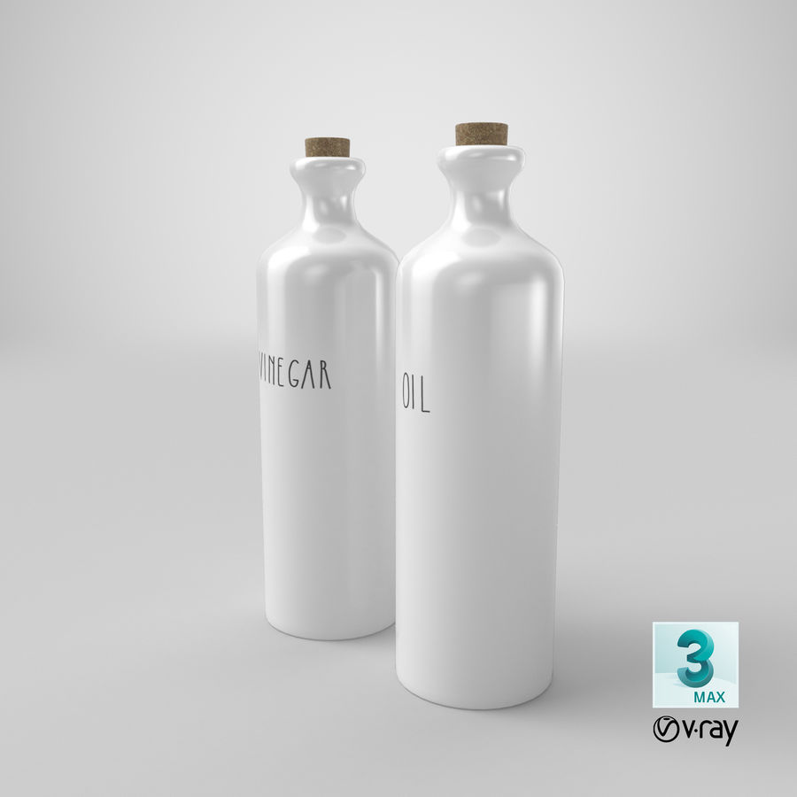 Botellas de aceite cerámico royalty-free modelo 3d - Preview no. 22
