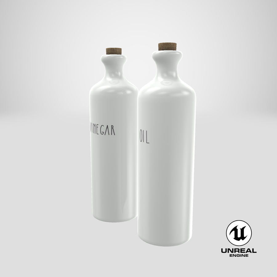 Botellas de aceite cerámico royalty-free modelo 3d - Preview no. 19