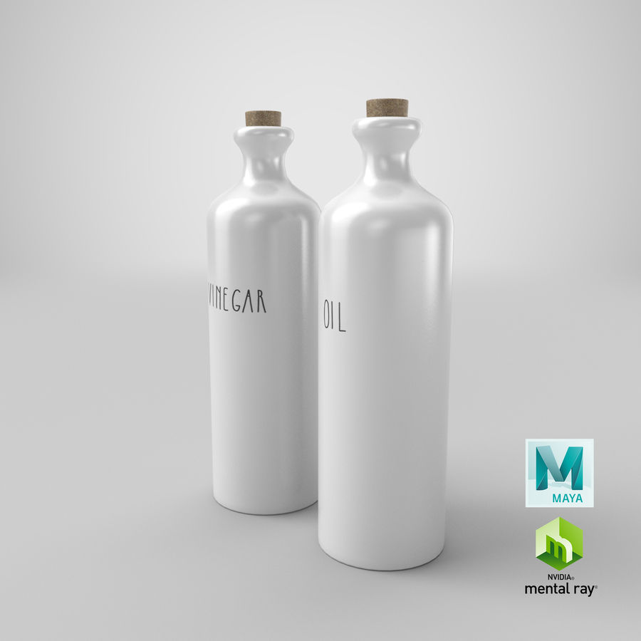 Botellas de aceite cerámico royalty-free modelo 3d - Preview no. 24