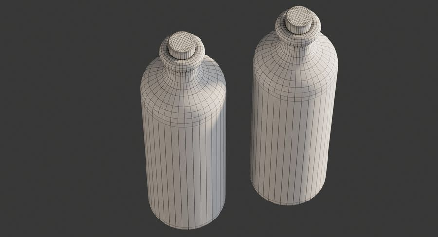 Botellas de aceite cerámico royalty-free modelo 3d - Preview no. 9