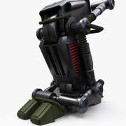 메카 로봇 다리 3d model