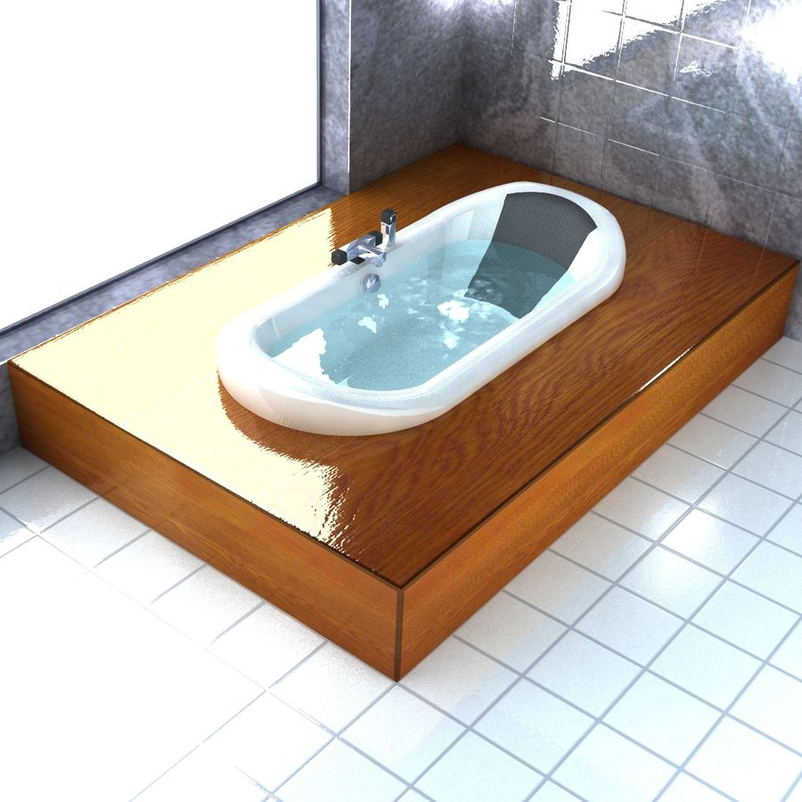 Bathtub royalty-free 3d model - Preview no. 1