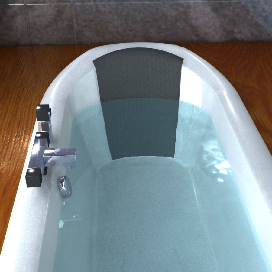 Bathtub royalty-free 3d model - Preview no. 6