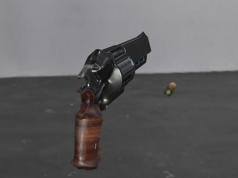 Skull Buster Revolver Pistool royalty-free 3d model - Preview no. 7